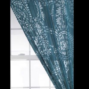 Urban outfitters damask burnout velvet curtain